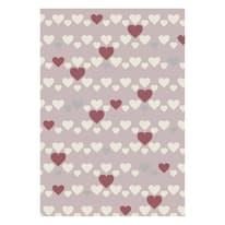 Tappeto Heart kids rosa 170x115 cm
