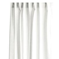 Tenda INSPIRE Lino bianco arricciatura con passanti nascosti 140x280 cm