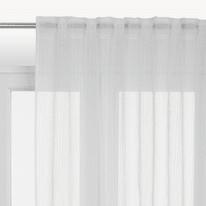 Tenda INSPIRE Lolita bianco fettuccia con passanti nascosti 300x280 cm