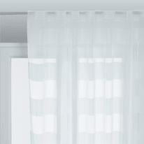 Tenda arredo Maryline bianco arricciatura con passanti nascosti 140x280 cm