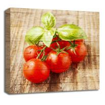 Quadro in legno Pomodori 30x30 cm