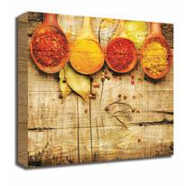 Quadro in legno Spices Spoons 30x30 cm
