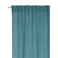 Tenda Lina azzurro fettuccia con passanti nascosti 140x300 cm