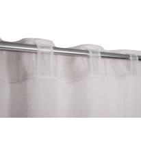 Tenda Lina bianco fettuccia con passanti nascosti 140x300 cm
