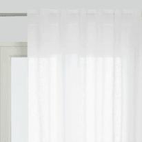 Tenda Micao bianco fettuccia con passanti nascosti 145x295 cm
