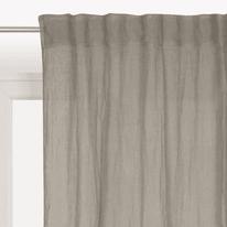 Tenda Lina grigio fettuccia con passanti nascosti 140x300 cm