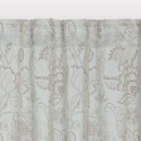 Tenda INSPIRE Oscurante Flowers grigio fettuccia con passanti nascosti 140.0x280.0 cm