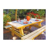 Set tavolo e sedie Campagna in legno marrone
