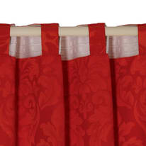 Tenda Grace rosso nastro arricciatura automatica 135x280 cm