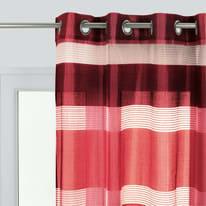 Tenda Stripe rosso occhielli 140x280 cm