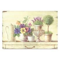 Quadro in legno Flowers 30x20 cm