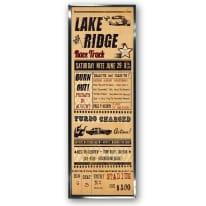 Stampa incorniciata Lake Ridge 30x90 cm