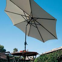 Ombrellone a palo centrale NATERIAL Koeos L 1.4 x P 1.4 m bianco/grigio