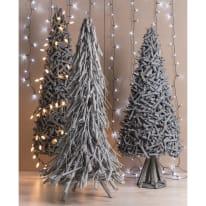 Albero di Natale con base in legno H 100 cm, L 40 cm  x P 40 cm  Ø 40 cm