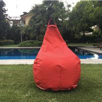 Pouf Pera idrorepellente rosso 100x70cm