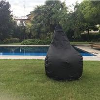Pouf Pera idrorepellente nero 100x70cm