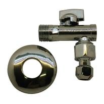 """Vitone idraulico Rubinetto sottolavabo con filtro per impurità a sfera 1/2"""" x  1/2"""" sferico e prolunghino 3/8"""" o bi cono 10 in ottone"""