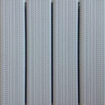 Piastrelle ad incastro Woven 30 x 30 cm, Sp 32 mm colore bianco