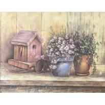 Quadro con cornice Bird House 45x35 cm