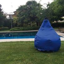 Pouf Pera idrorepellente blu 100x70cm