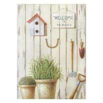 Quadro con cornice Garden 45x35 cm
