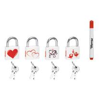 Lucchetto con chiave MASTER LOCK Love ansa H 17 x L 17 x Ø 5 mm