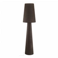 Lampada da terra Carpara marrone, in tessuto, H173cm, E27