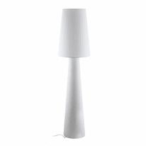 Lampada da terra Carpara bianco, in tessuto, H173cm, E27