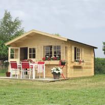 Casetta da giardino in legno Frankfurt 15.84 m² spessore 44 mm