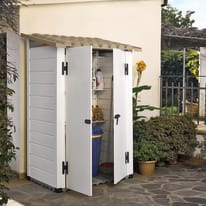 Casetta da giardino in pvc Tuscany 100.2P 1.32 m² spessore 20 mm