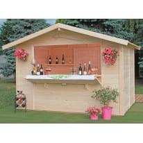 Chiosco in legno Spritz 1 ribalta 6 m² spessore 19 mm