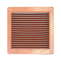 Griglia di aerazione in rame forma rettangolare L 19.3 x H 16.5 cm