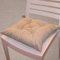Cuscino per seduta lurex grigio 38x40 cm