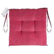 Cuscino per seduta carlo bordeaux 40x40 cm