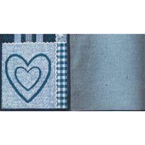 Tappeto Cucina antiscivolo Master cuore blu 130x50 cm