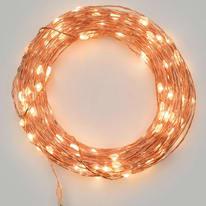 Catena luminosa 10 lampadine LED bianco caldo 10 cm