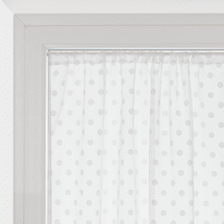 Tendina vetro Elsa bianco tunnel 100x150 cm