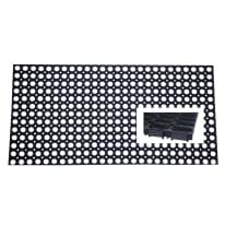 Zerbino all'aperto in caucciù nero 40x60 cm