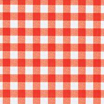 Tovaglia INSPIRE Quadri rosso 140x220 cm