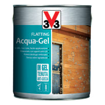 Flatting liquido V33 Acqua-Gel 2.5 L noce scuro lucido