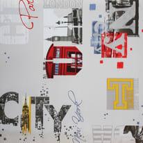 Tovaglia INSPIRE Cities multicolore 120x160 cm