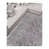 Tappeto Shaggy Enzo lurex argento 230x160 cm