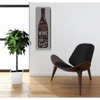 Quadro in legno Wine-Tonight 20x60 cm