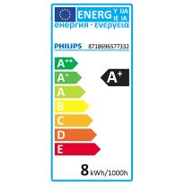 Lampadina LED E27 goccia bianco freddo 7.5W = 806LM (equiv 60W) 220° PHILIPS
