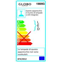 Lampadario Selmy acciaio, in acrilico, LED integrato 23W 580LM IP20