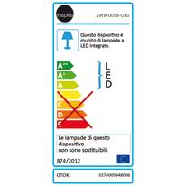 Applique Otok cromo, in metallo, 26.5x13 cm, LED incassato 7.2W IP20 INSPIRE