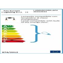 Applique Amarcord ruggine, in acciaio, 27.5 cm, E27 2xMAX60W IP20