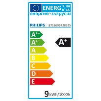 Lampadina LED E27 standard bianco caldo 9.5W = 50LM (equiv 60W) 36° PHILIPS HUE, 3 pezzi