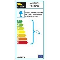 Applique Whitney in alluminio, ruggine e trasparente, E27 MAX40W IP44 INSPIRE