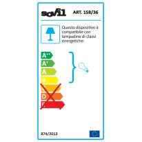 Applique Spectre in alluminio, grigio, E27 MAX60W IP44